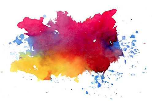 Watercolor Splatter Warna