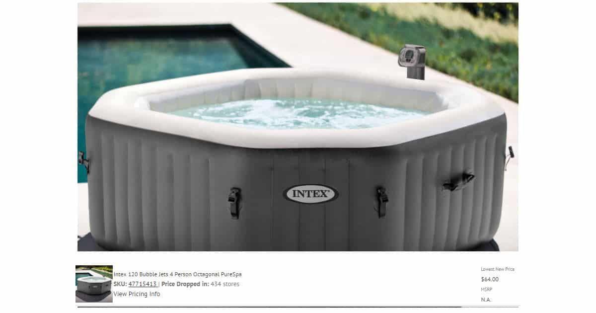 Intex 4 Person Octagonal Spa 64 00 Huge Price Drop Inflatable Hot Tubs Portable Hot Tub Intex Hot Tub