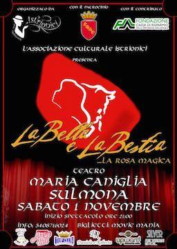 """Sulmona,Sold out per il musical """"La Bella e La Bestia"""""""
