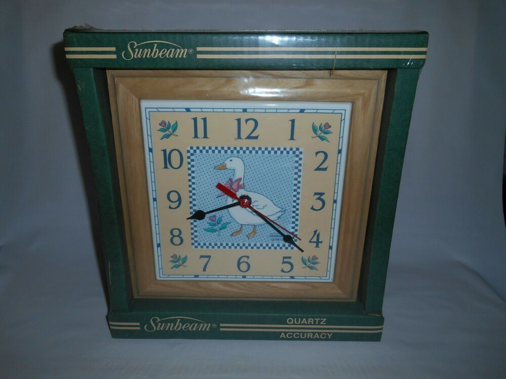 Vintage Sunbeam 10 Square Quartz Kitchen Wall Clock 14179 New Old Stock Sunbeam Country Wall Clock Kitchen Wall Clocks Wall Clock
