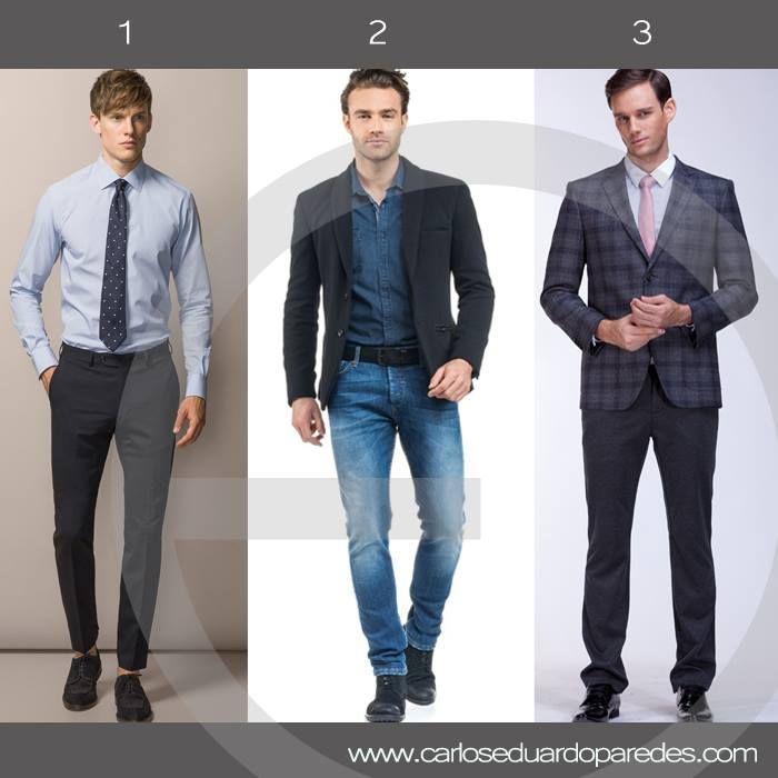 ¿Cuál es tu look favorito para el trabajo? ¿1, 2 ó 3?