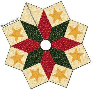 Free pattern day! Christmas Tree skirts   Quilt Inspiration   Bloglovin'