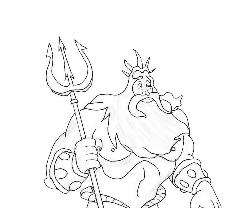 King Triton Coloring Pages Mermaid Coloring Sketches Coloring