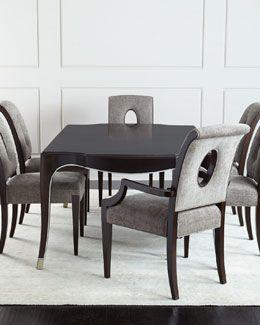 6Frj Bernhardt Davenport Dining Table Davenport Armchairs Pair Classy Side Chairs Dining Room Inspiration Design