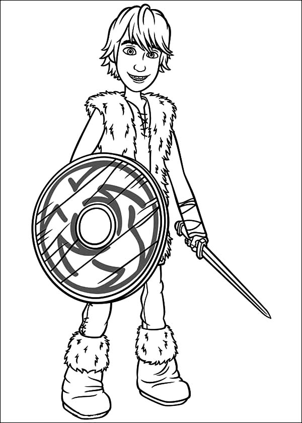 How To Train Your Dragon Hero Hiccup Coloring Pages Coloring Sky