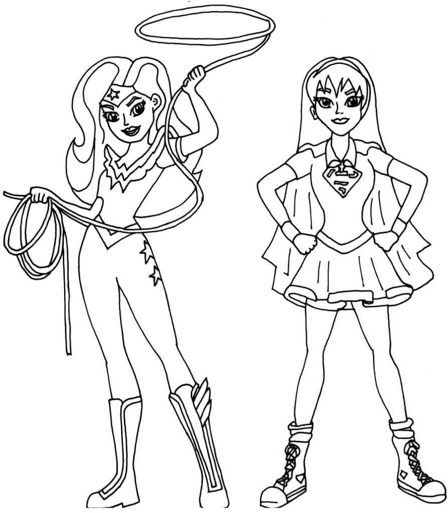 Mulher Maravilha e Super Girl Mulher maravilha para