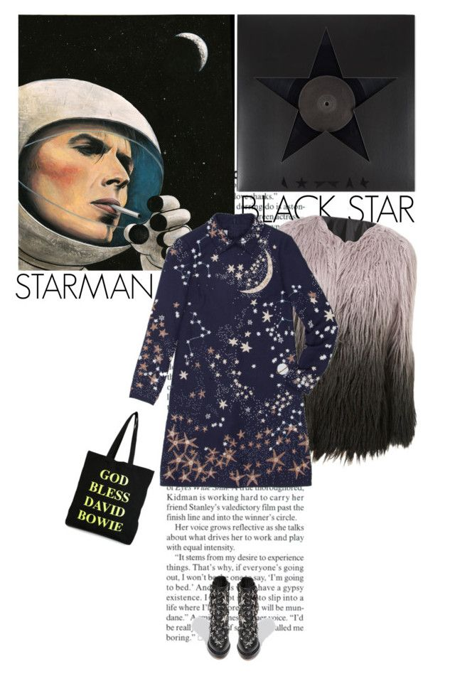 """""""RIP David Bowie"""" by helena99 ❤ liked on Polyvore featuring Paul Smith, Valentino, Jeffrey Campbell, House Of Voltaire, valentino, stars and davidbowie"""