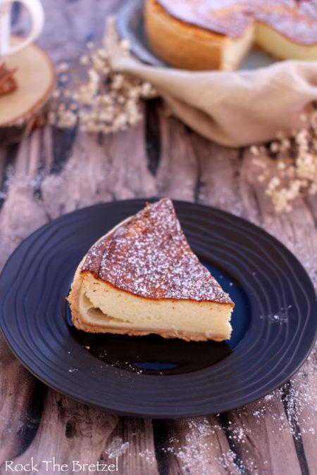 Elsässische Torte mit Weißkäse 0% und Zimt (Kasekueche für die Inti …  – DeS rEceTTes alSaCienNes
