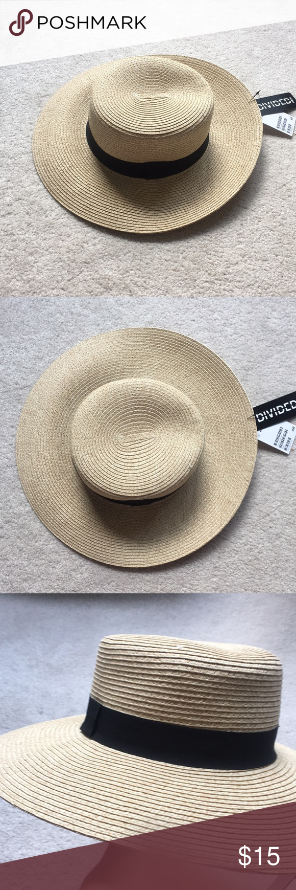 3ed360397 H&M boater hat Very cute, boater style H&M Accessories Hats | My ...