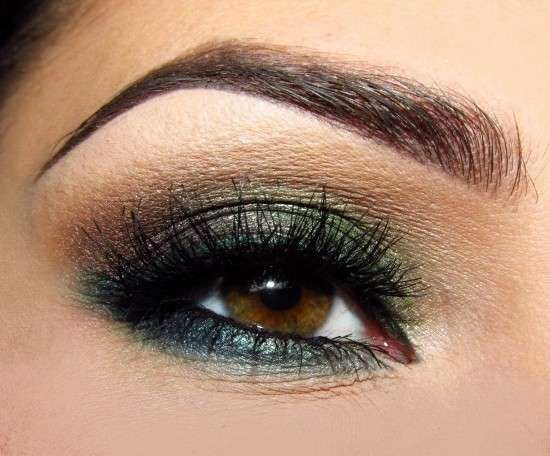 Make up occhi marroni , Ombretto verde e marrone