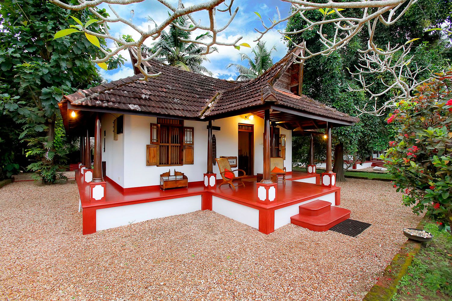 Philipkutty S Farm Stay In Independent Homely Waterfront Villas Http Www Kittencarcare In Village House Design Indian Home Design House Design Pictures