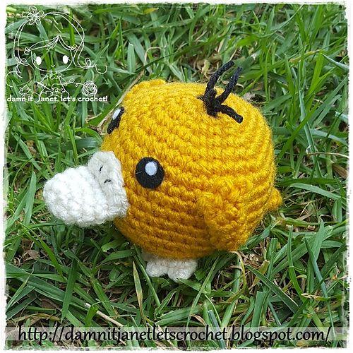 Ravelry: Chibi Psyduck (pokemon) pattern by Janet Carrillo | Crochet ...