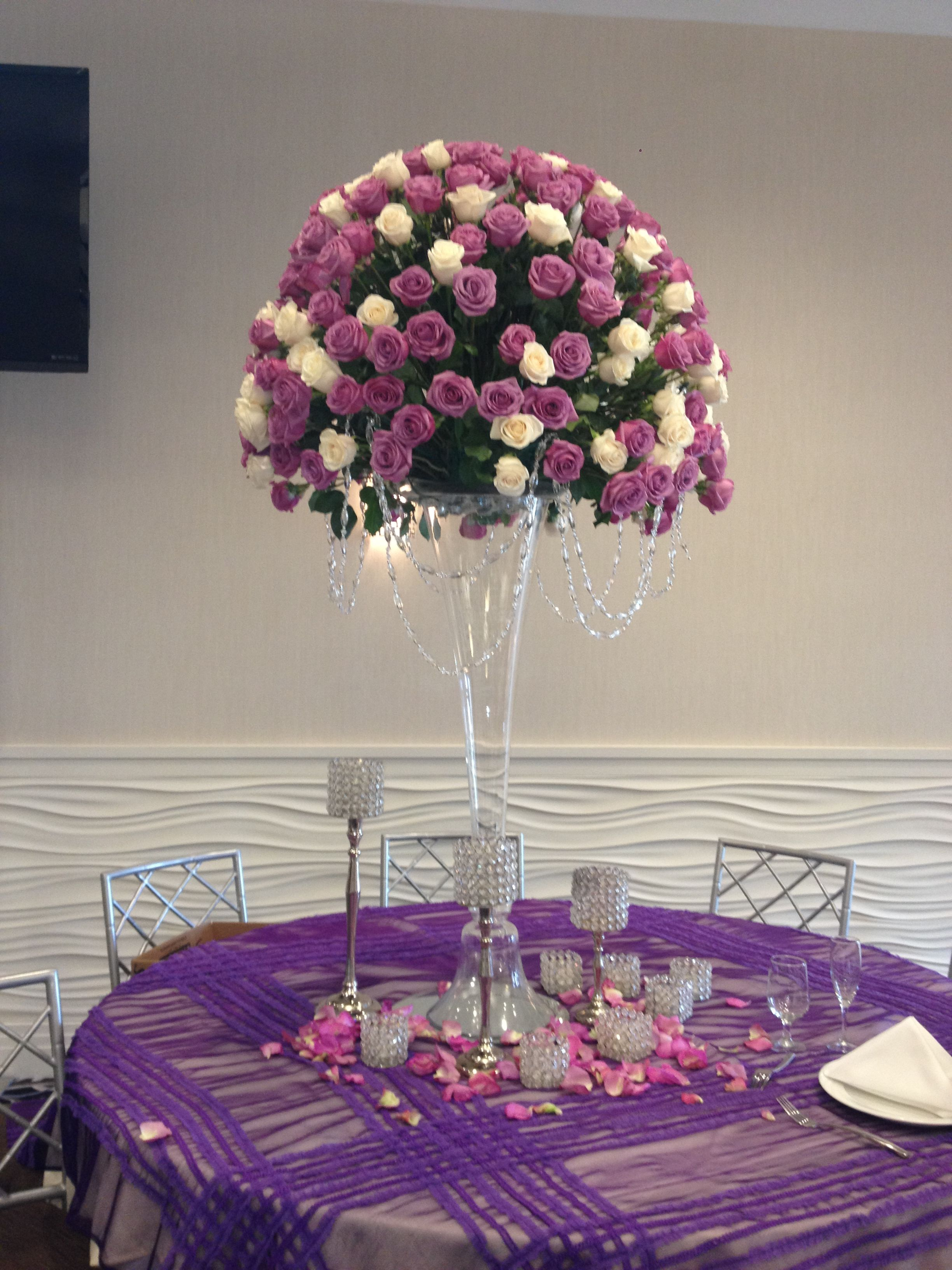 dc amazing regency arlington wedding theme of luxury style purple crystal best decorations decor city hyatt