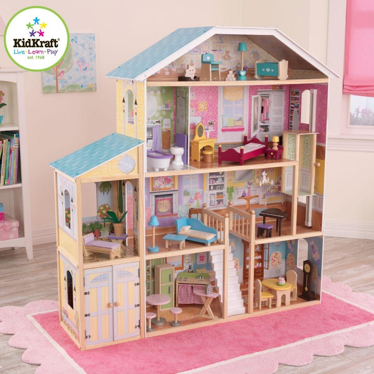 casita de juguete muñecas kidkraft majestic mod. 65252 fn4