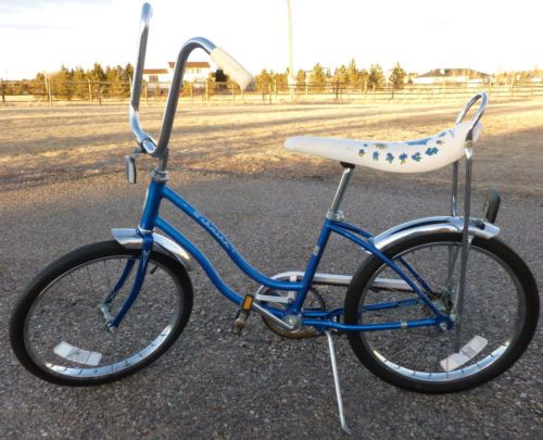 Banana seat bike - mine had a flowery basket too.