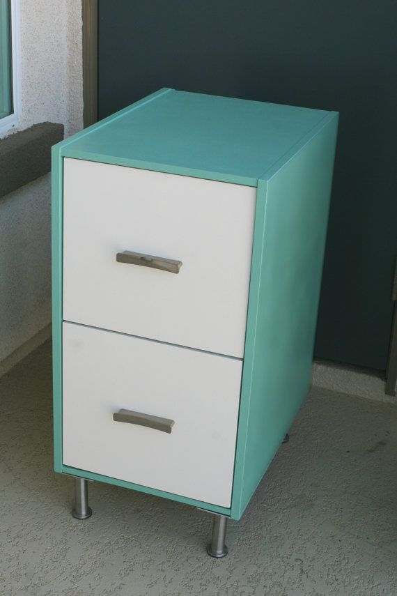 Add Legs And Paint Filing Cabinets For A 50s Look More