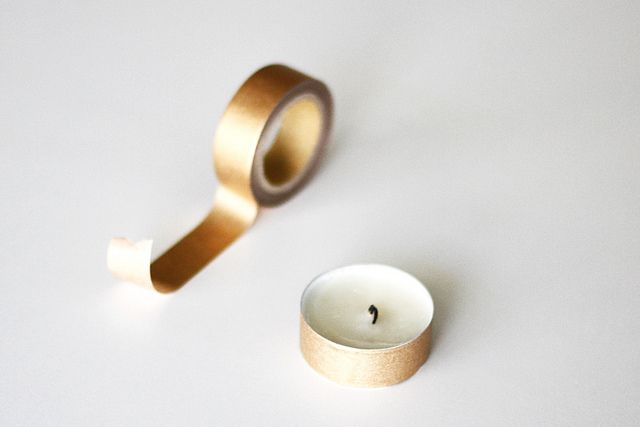 washi tape tea light DIY...cute
