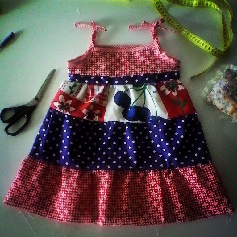 Vestido Lili, de niña en algodón. Talla 4