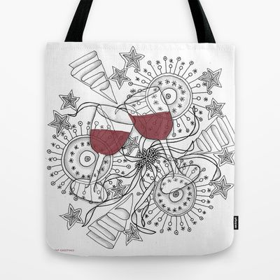 Zentangle Celebrate Everything Tote Bag by Vermont Greetings - $22.00