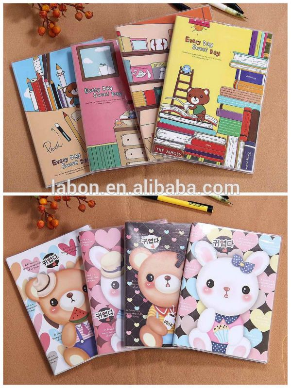 Novelty Cute Carton Printing Notebooks - Korean Stationery - Paper - Lined Notebook