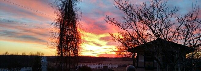 Winter sunsets take your breath away.