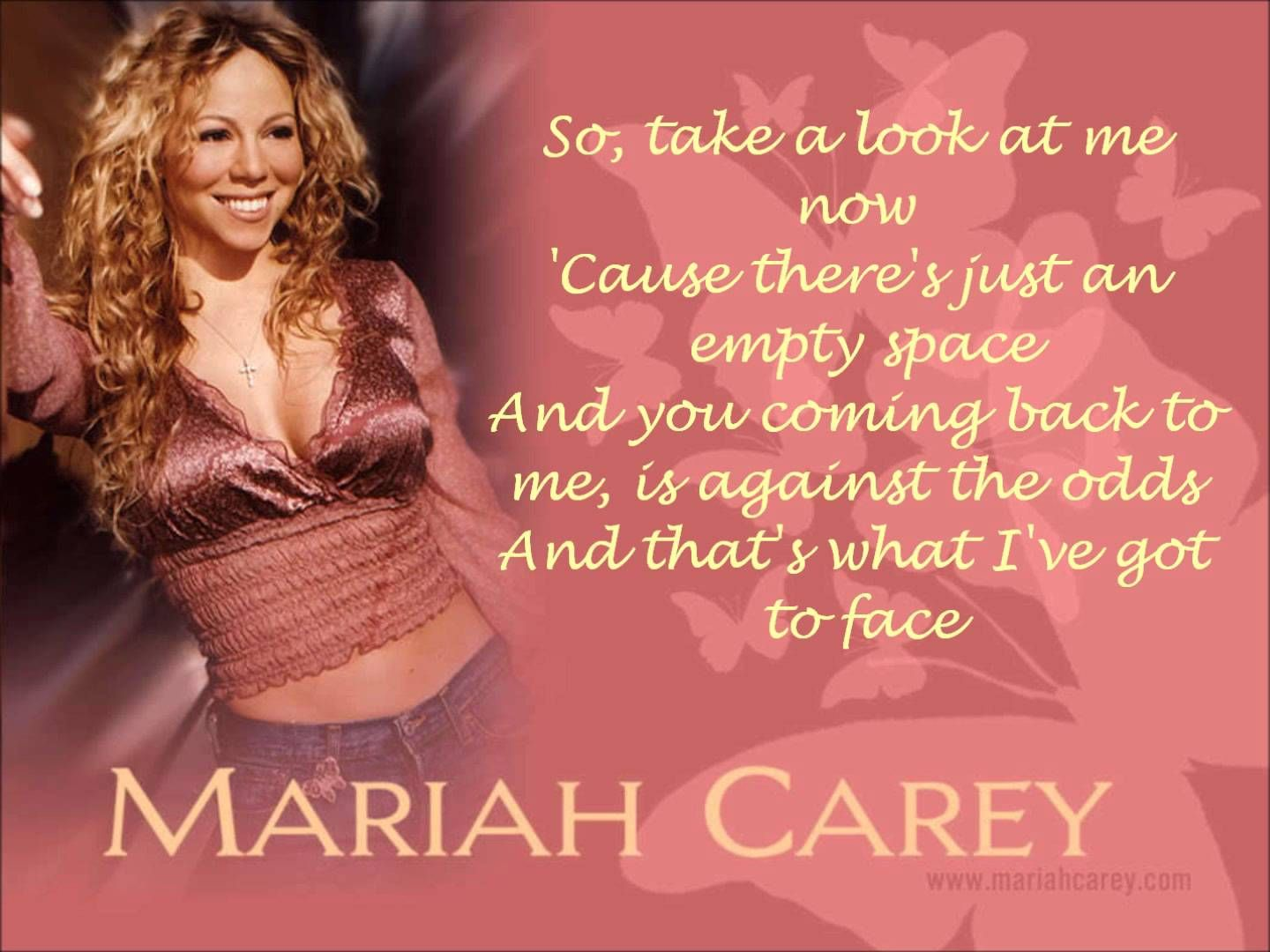 Mariah Carey Against All Odds Take A Look At Me Now Lyrics