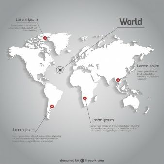 World map vector infographic template info pinterest arte world map vector infographic template gumiabroncs Images
