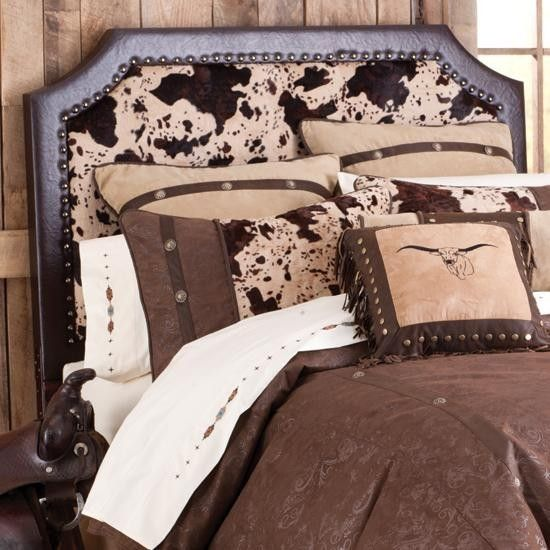 Faux Cowhide Headboard