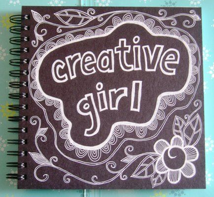 The cover of my current art journal.