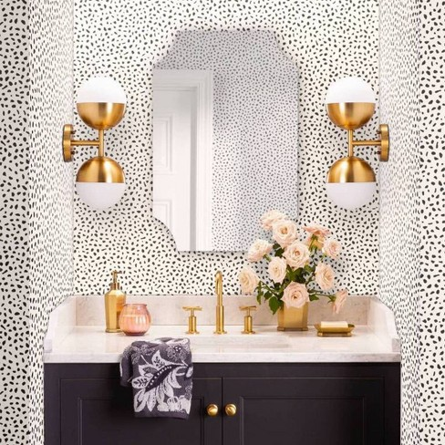 Coral Moroccan Tile Peel And Stick Wallpaper Removable Etsy Bathroom Wallpaper Modern Peel And Stick Wallpaper Tile Wallpaper