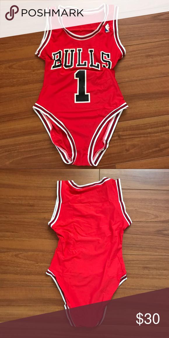 64b88156d69df2 Bulls Basketball Jersey Bodysuit Bulls Basketball Jersey Bodysuit Bulls  Bodysuit Looks super cute with denim shorts