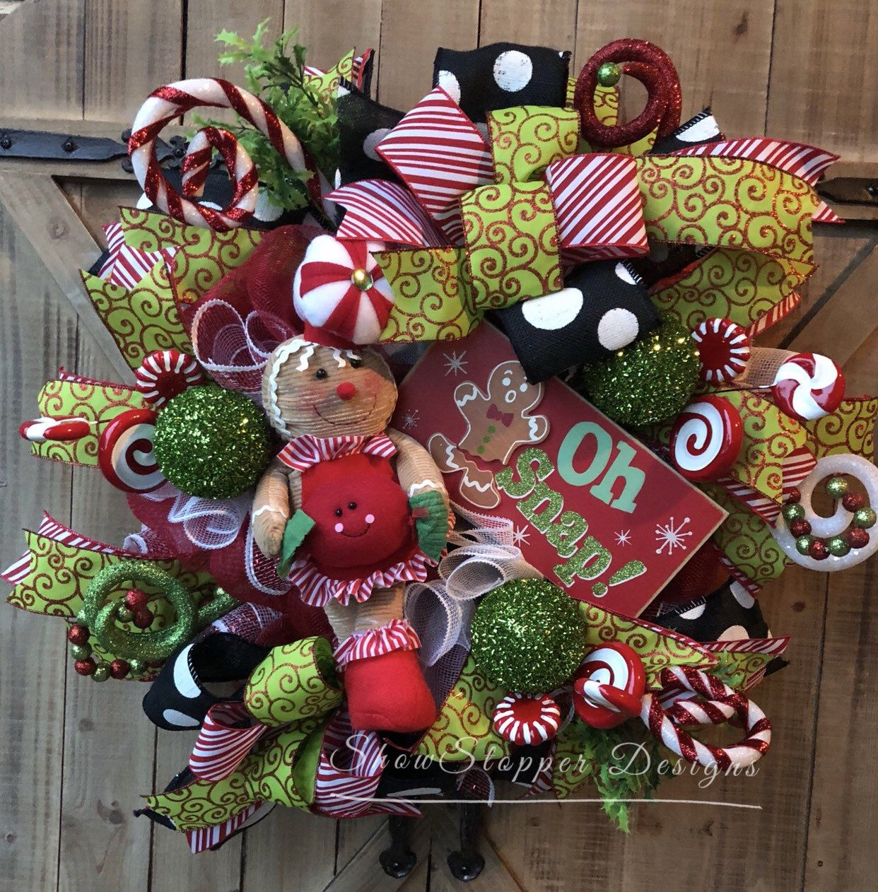excited to share this item from my etsy shop gingerbread wreathgingerbread door