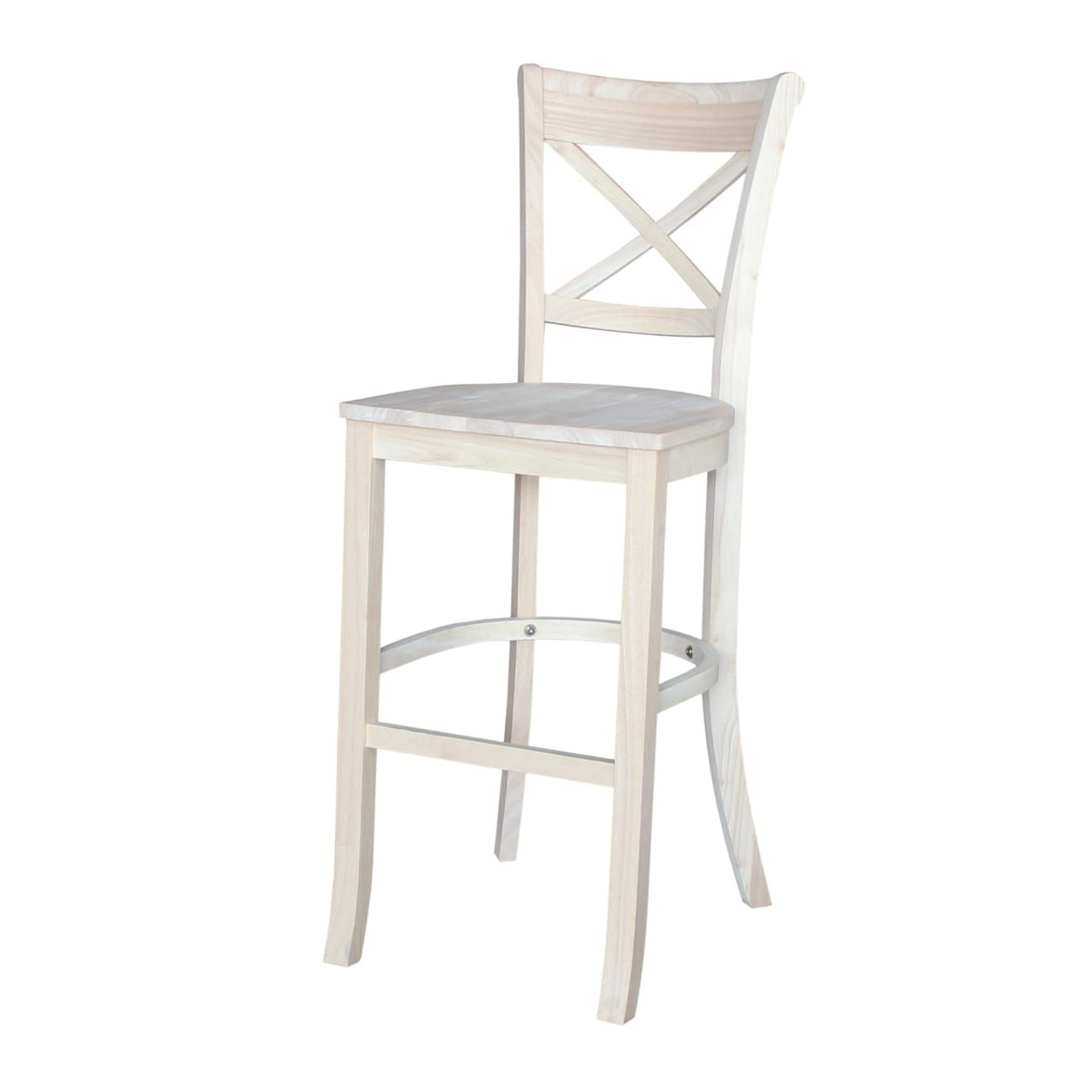 Astonishing Charlotte 30 Inch Bar Stool Ready To Finish 30 Inch Andrewgaddart Wooden Chair Designs For Living Room Andrewgaddartcom