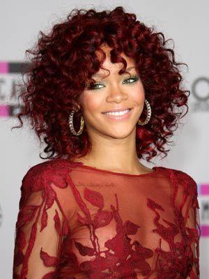 Cute Hairstyles For Curly Hair Rihanna  Coiffed  Pinterest  Rihanna Curly And Hair Inspiration