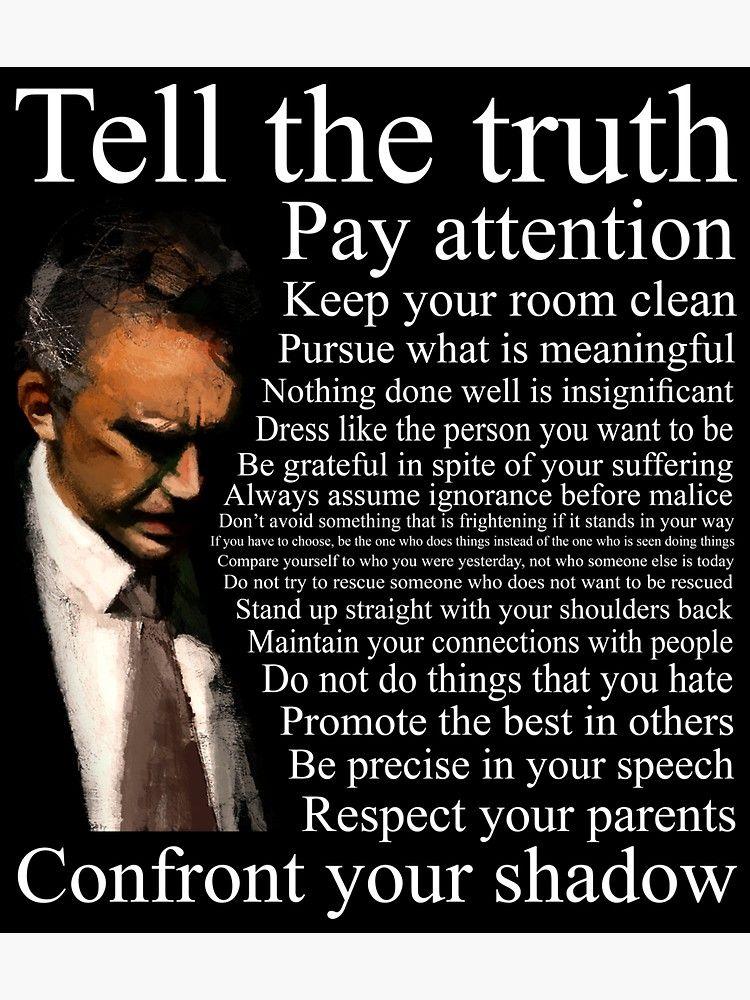 Jordan Peterson S Advice Sticker By Joerogan Motivational Speeches Martin Luther King Jr Quotes Jordan Peterson