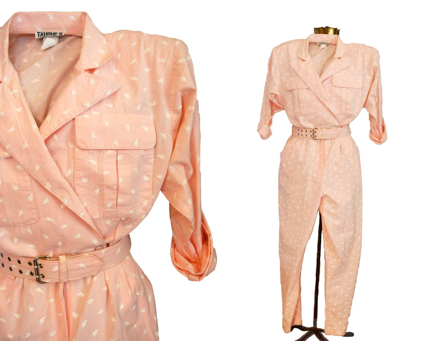 1970s Jumpsuit 1980s Jumpsuit Taurus II Union by Lexigoesthrifting