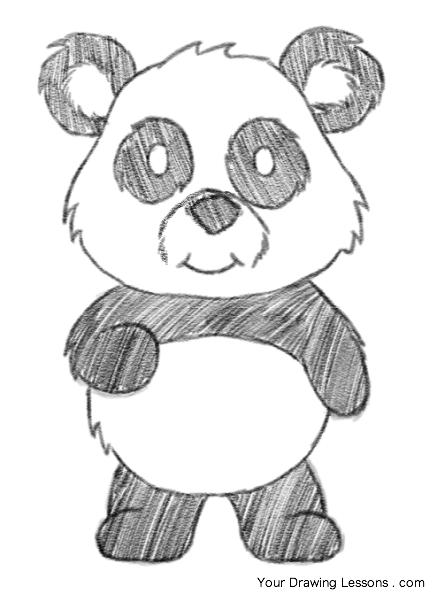 Panda Bear Drawing Tutorial How To Draw Panda Bear Drawings