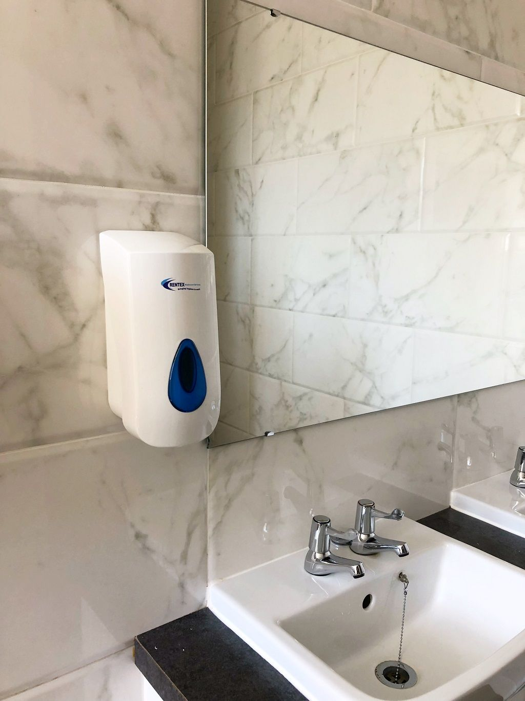 Commercial bulk fill soap dispensers for busy washroom