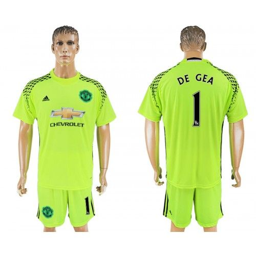 56648d3c22c 2017-18 Football Kit Manchester United 1 de Gea Goalkeeper Football Shirt