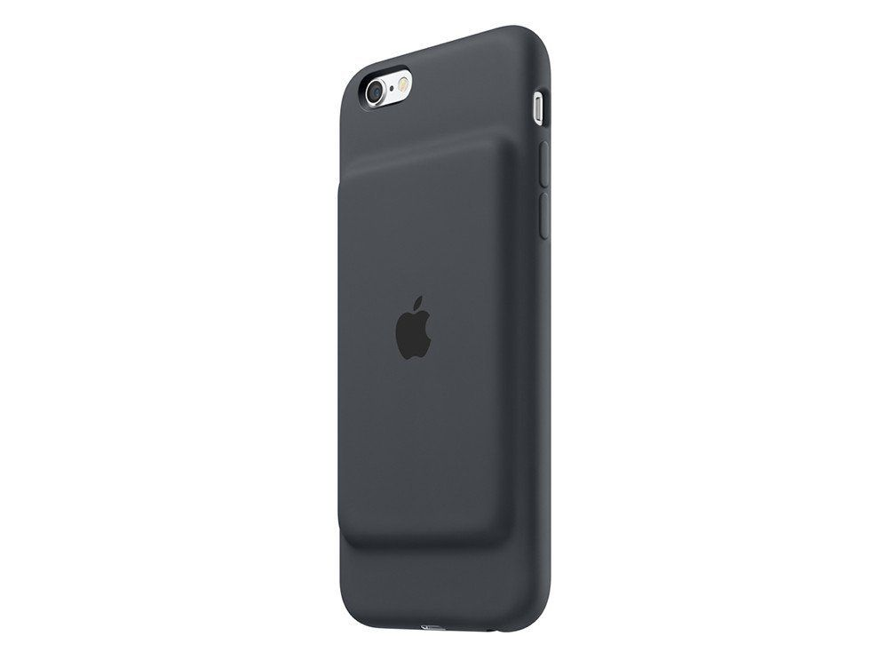 Apple Silicone Elastomer Smart Battery Back Cover Case For Iphone 6s Charcoal Grey Iphone Iphone 6 Iphone Hulle
