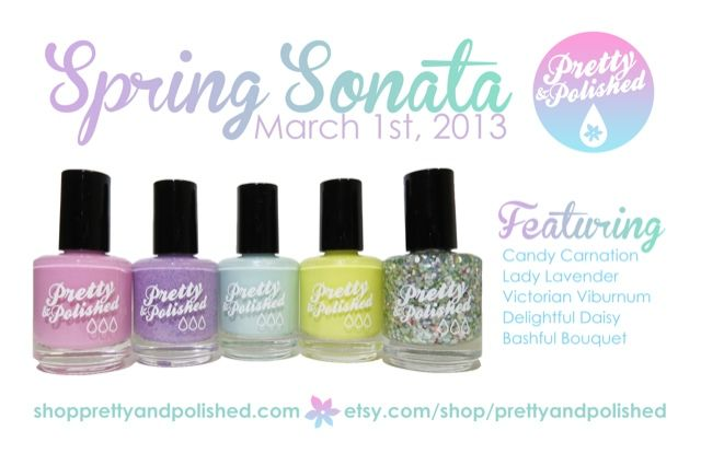 Pretty and Polished Spring Sonata Collection, especially Bashful Bouquet! (March 13)