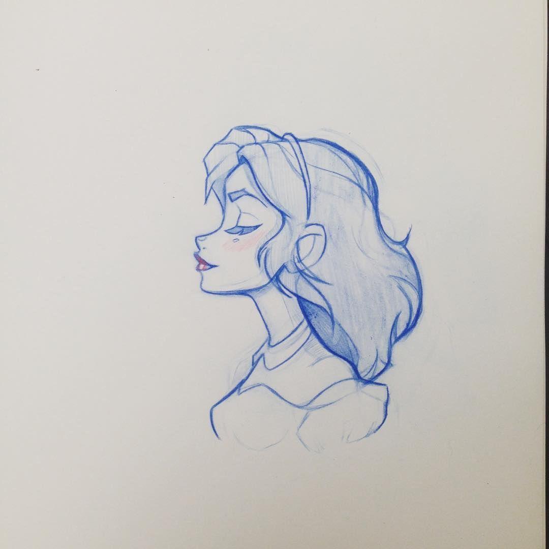 Profile of a dreamer #sketch #sundaymorning #art #design #girl #dreamer #profile