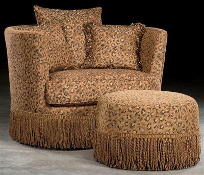 Cool Leopard Print Swivel Barrel Chair Luxury Upholstered Download Free Architecture Designs Scobabritishbridgeorg