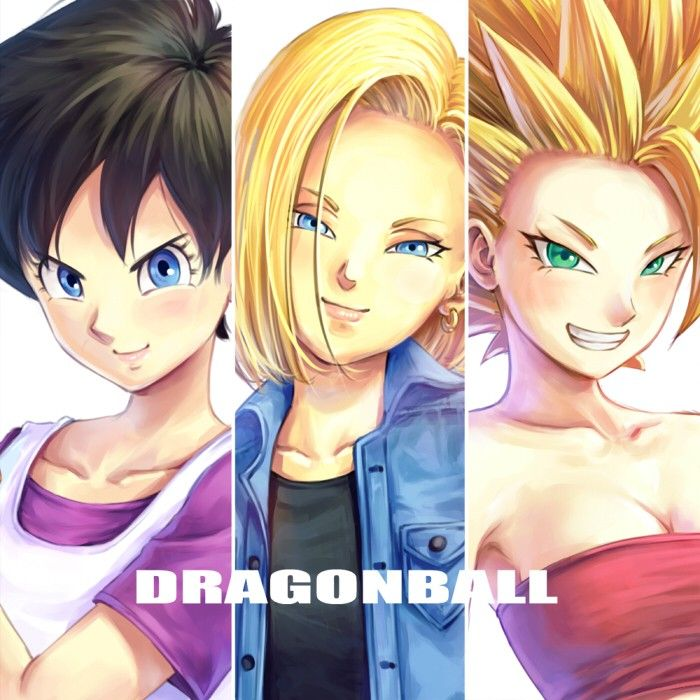 Videl Androide 18 Caulifla Dragon Ball Pinterest