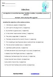 adjective worksheets for kids