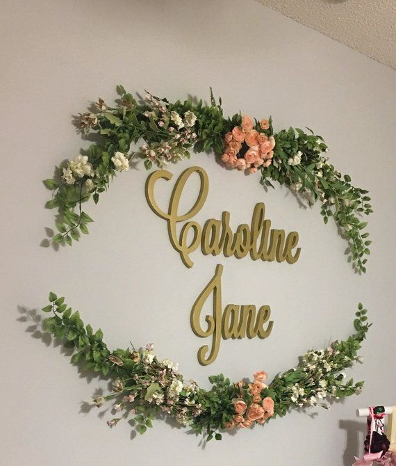 SMALL Nursery Name Sign, Wood Letters, Wall Decor, Nursery Letters