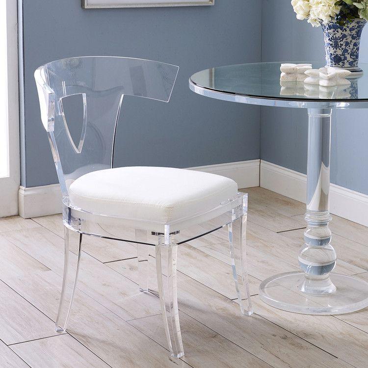 Acrylic Klismos Chair Curved See Through Chair Wisteria In 2020 Klismos Chair Furniture Klismos