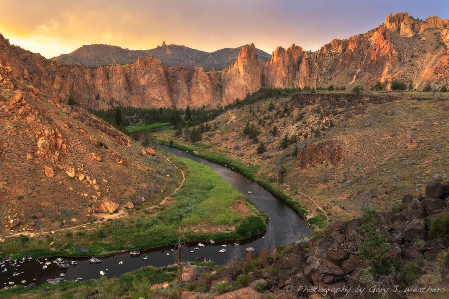 Golden Sunset at Smith Rock by Gary Weathers, via 500px (Oregon)