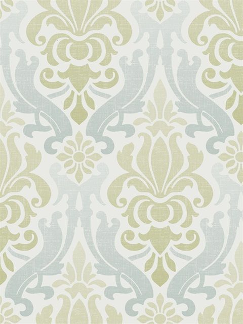 Nu1656 Blue And Green Nouveau Damask Peel Stick Wallpaper By Nuwallpaper Damask Wallpaper Peel And Stick Wallpaper Nuwallpaper
