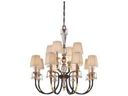 Metropolitan Lighting Bella Cristallo French Bronze with Gold Highlight 12-Lights 38'' Wide Chandelier